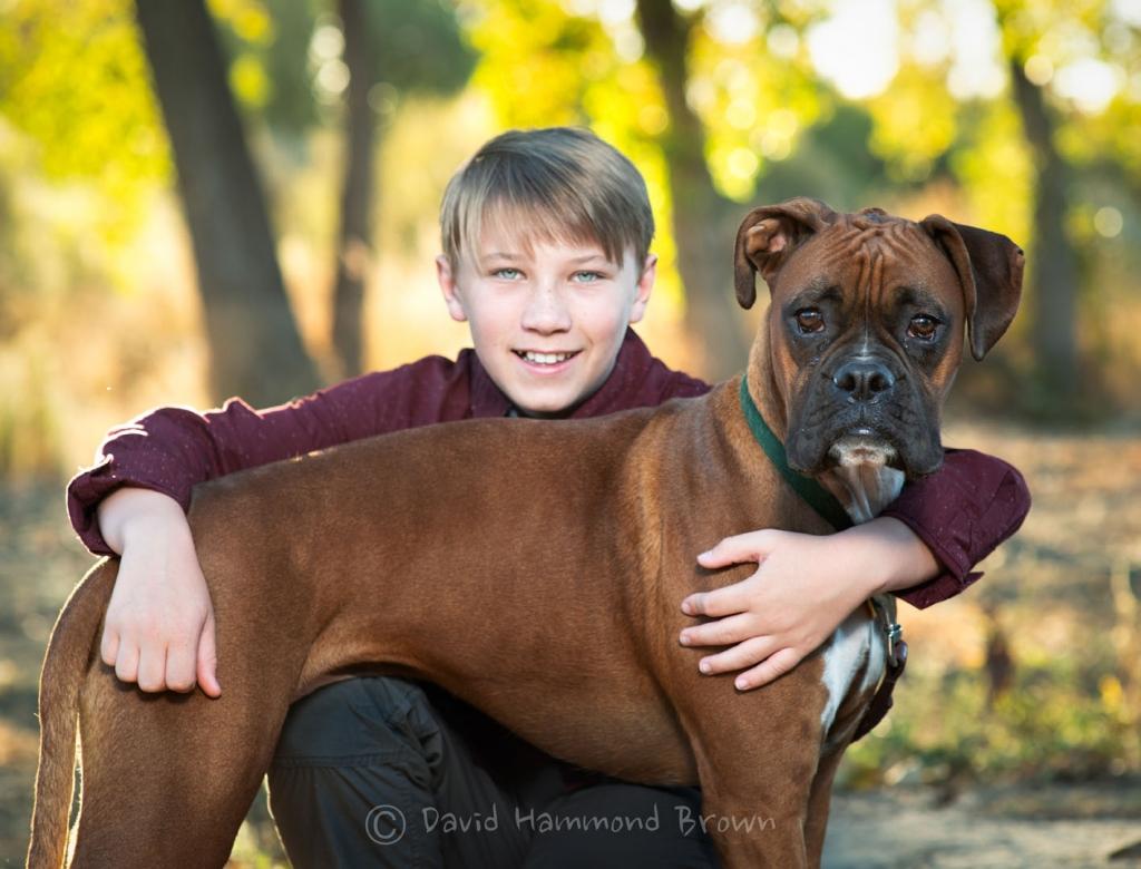 David Hammond Brown Photography - A boy and his dog