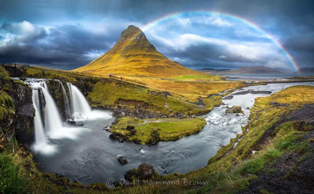 David Hammond Brown Photography - Rainbow at Kirkjufell - Iceland