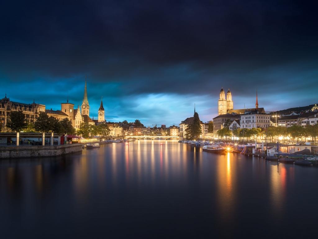David Hammond Brown Photography - Zurich By Twilight - Switzerland